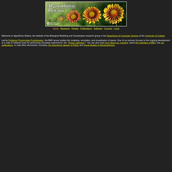 Algorithmic Botany: Home