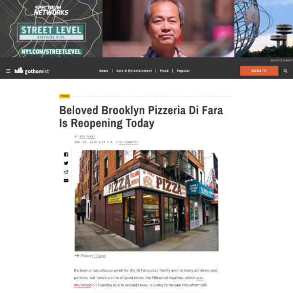Beloved Brooklyn Pizzeria Di Fara Is Reopening Today