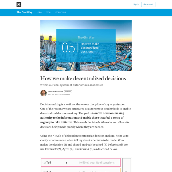 How we make decentralized decisions