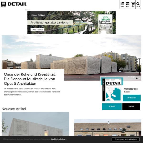 DETAIL - Magazin für Architektur + Baudetail - Start