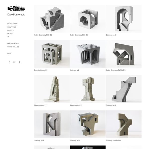 David Umemoto - Sculptures