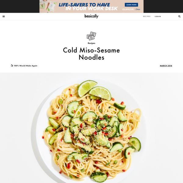 Cold Miso-Sesame Noodles Recipe   Bon Appetit