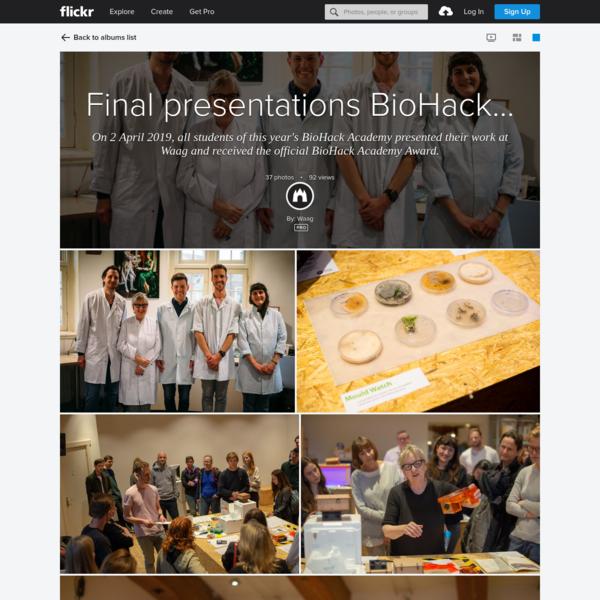 Final presentations BioHack Academy #6