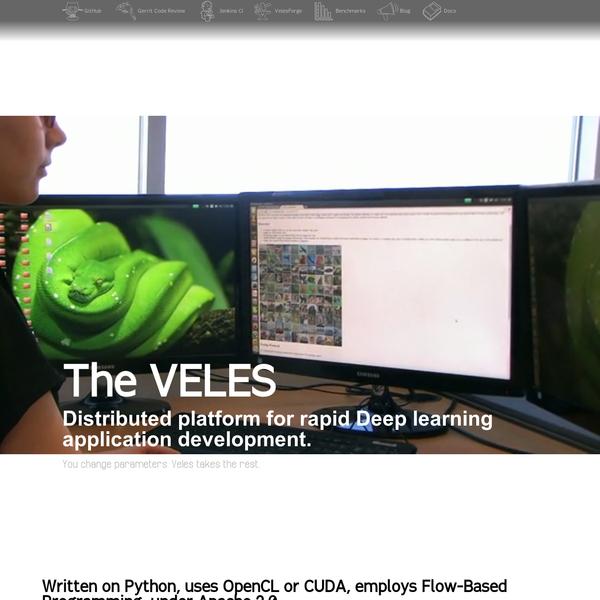 Distributed platform for rapid Deep learning application development.