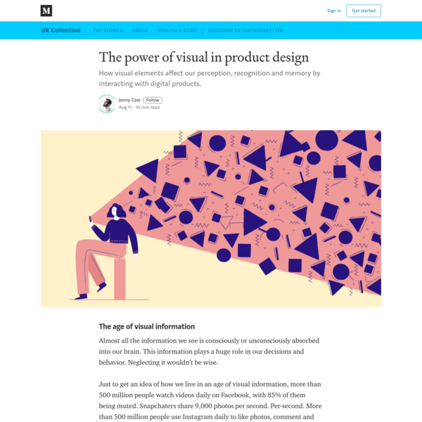 The power of visual in product design