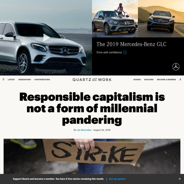 Responsible capitalism is not a form of millennial pandering