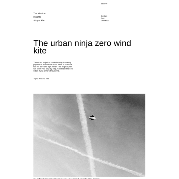 The urban ninja zero wind kite