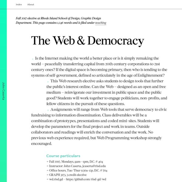 The Web & Democracy