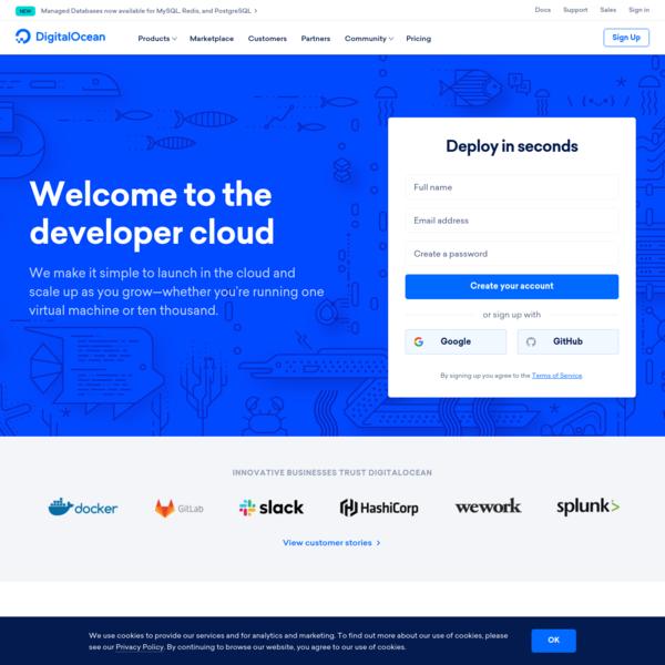 DigitalOcean - The developer cloud