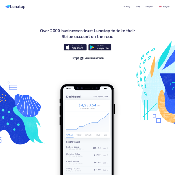 Lunatap: The beautifully easy way to take your Stripe account on the road