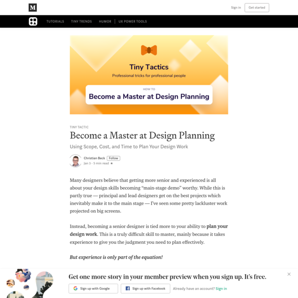 Become a Master at Design Planning
