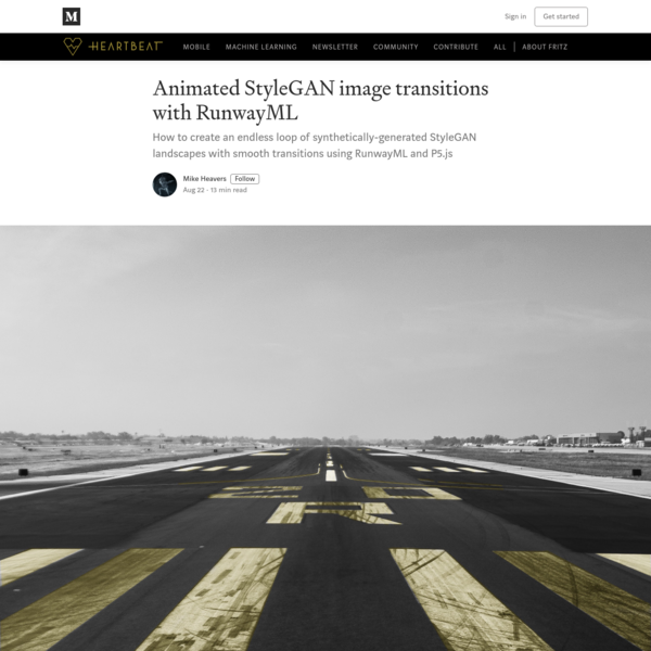 Animated StyleGAN image transitions with RunwayML