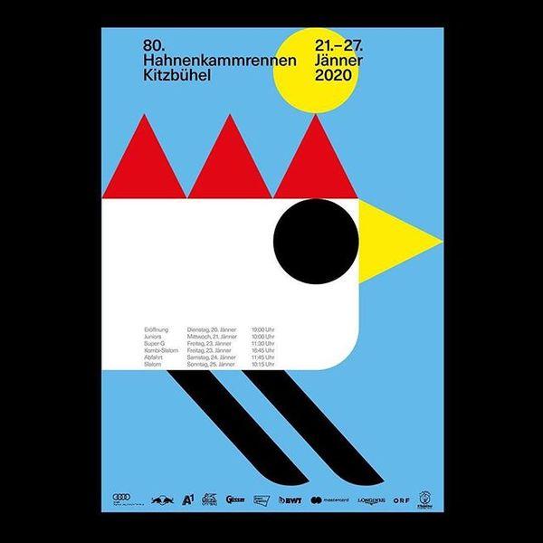 #reposter @robert.radziejewski ・・・ Hahnenkamm poster proposal . #posterdesign #graphicdesign #poster #hahnenkammrennen #hahn...