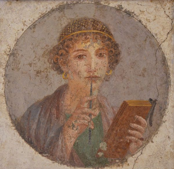"Woman with wax tablets and stylus (so-called ""Sappho"")"