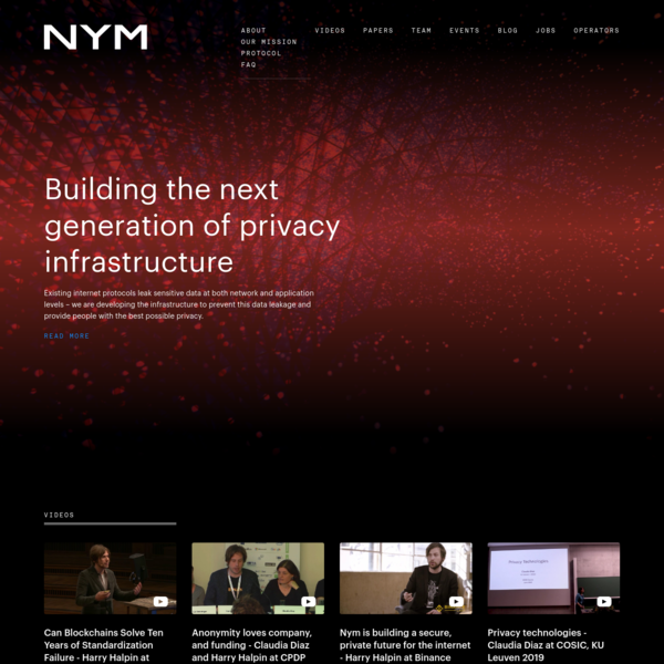 Building the next generation of privacy infrastructure