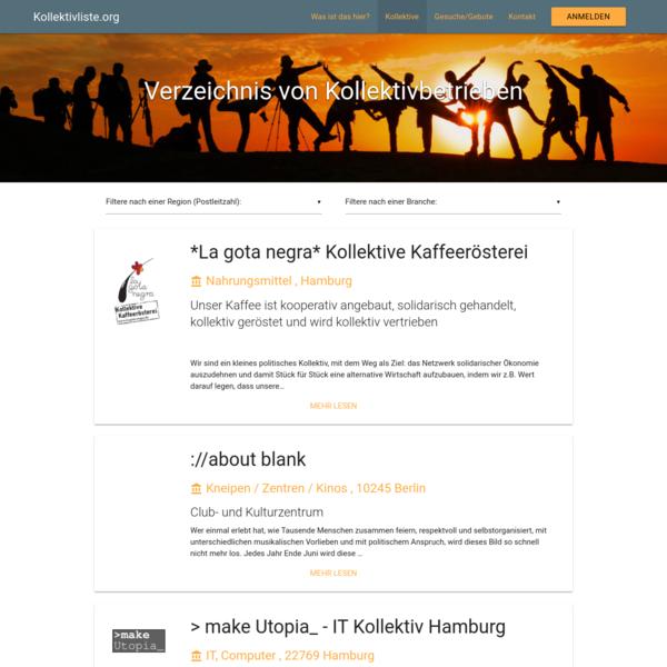 Kollektivbetriebe aus dem deutschsprachigen Raum