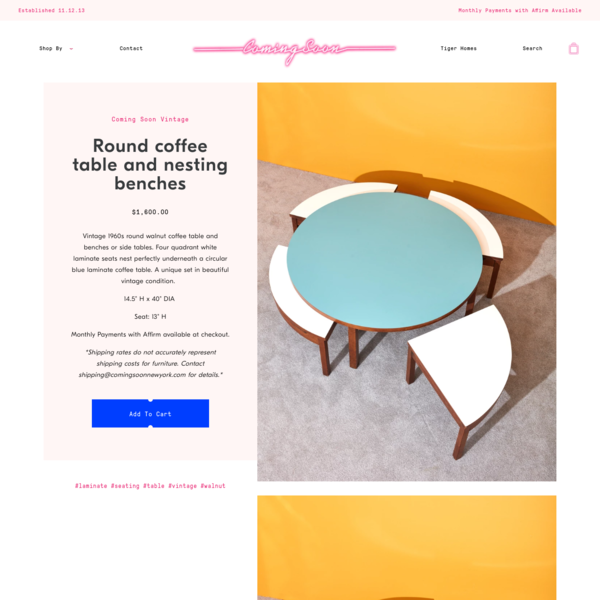 Round coffee table and nesting benches – Coming Soon