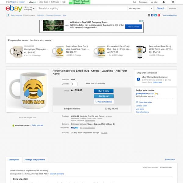 Personalised Face Emoji Mug - Crying - Laughing - Add Your Name | eBay