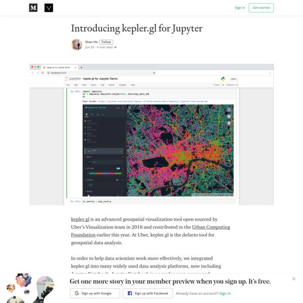 Introducing kepler.gl for Jupyter