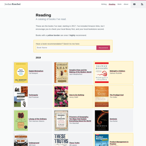 Are na / Book Lists