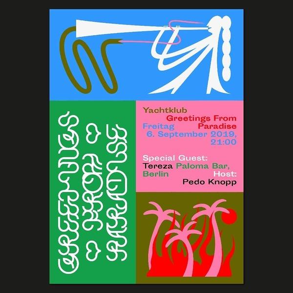 🔥🌴 Greetings From Paradise 🌴🔥 06.09.2019 with @tereza_waters & @pedoknopp at @yachtklub_ffm 💦