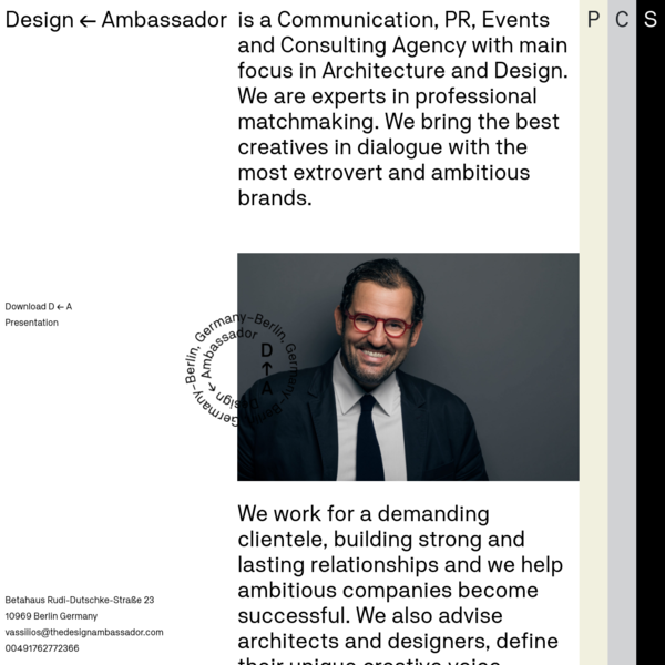 Design ← Ambassador - Consultation agency in Berlin, Germany