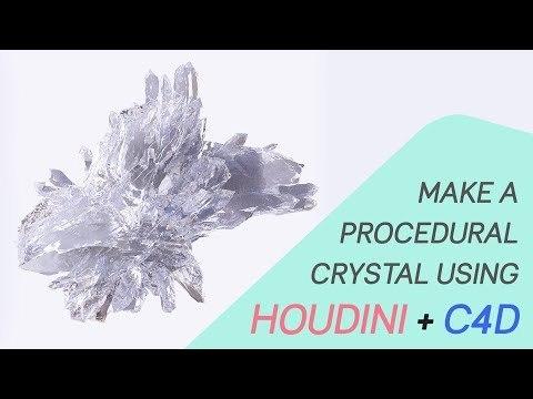 Procedural Crystal Tutorial - Houdini + Cinema4D