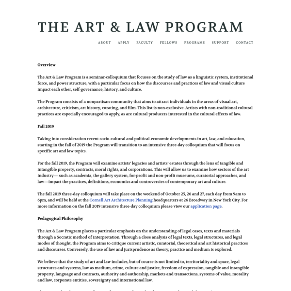 ABOUT - The Art & Law Program