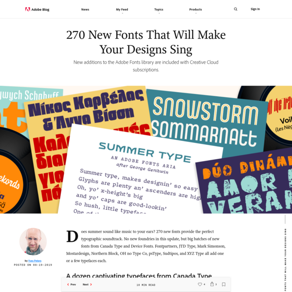270 New Fonts That Will Make Your Designs Sing | Adobe Blog