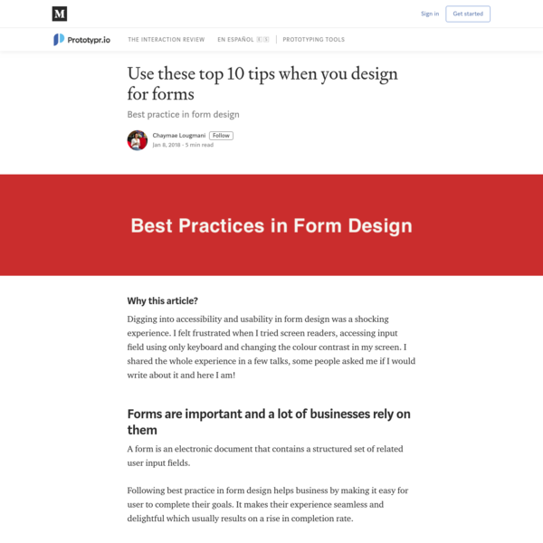 Use these top 10 tips when you design for forms