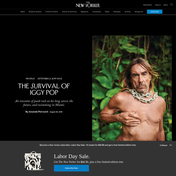 The Survival of Iggy Pop | The New Yorker