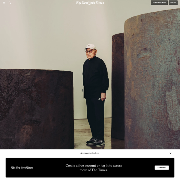Richard Serra Is Carrying the Weight of the World - The New York Times
