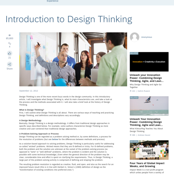 Introduction to Design Thinking - SAP User Experience Community
