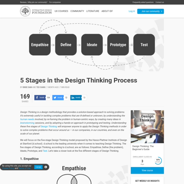 5 Stages in the Design Thinking Process