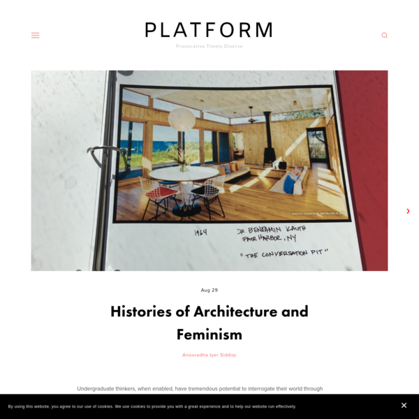 PLATFORM: Histories of Architecture and Feminism