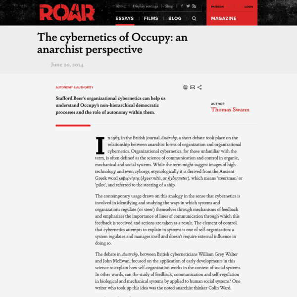 The cybernetics of Occupy: an anarchist perspective