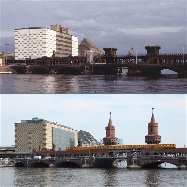 Oberbaumbrücke, 1989/2019
