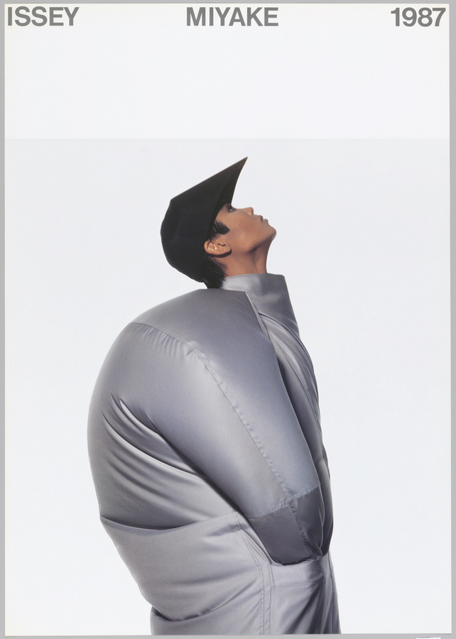 Designed by Ikko Tanaka and featuring artwork by Issey Miyake and photographed by Irving Penn. 1987.  https://collection.cooperhewitt.org/objects/18632543/