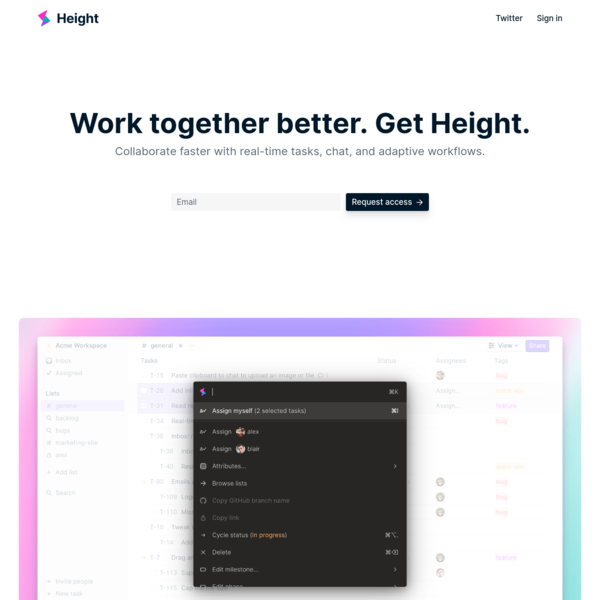 Height - Work together better