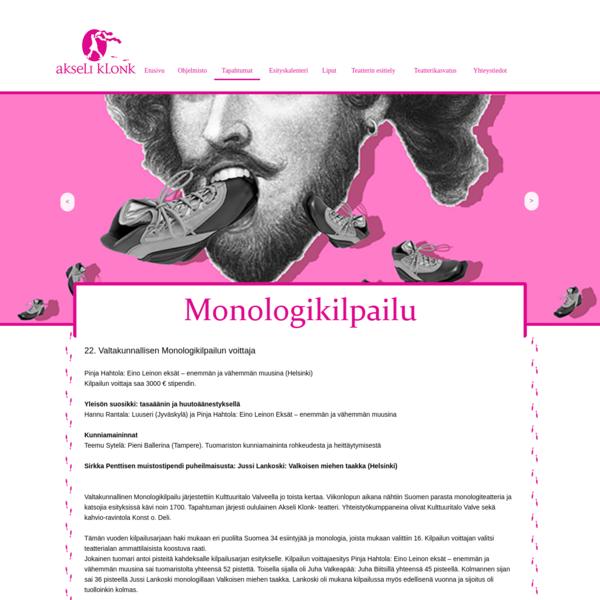 22. Valtakunnallinen Monologikilpailu, Oulu