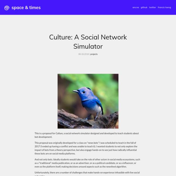 Culture: A Social Network Simulator