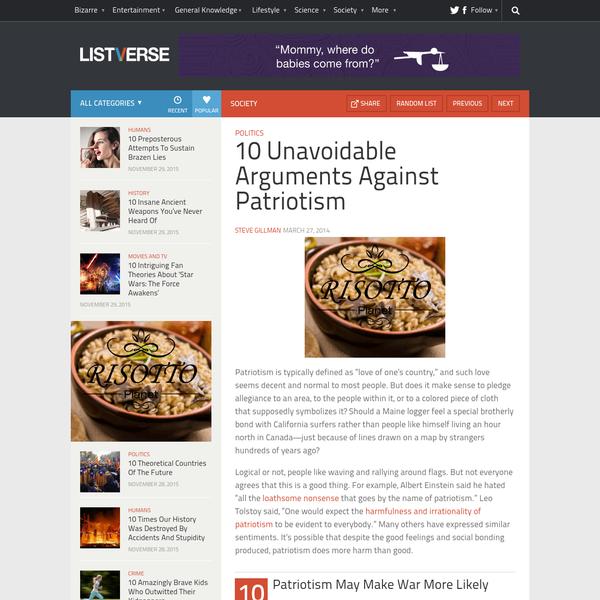 10 Unavoidable Arguments Against Patriotism