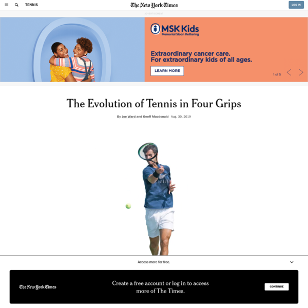 The Evolution of Tennis in Four Grips