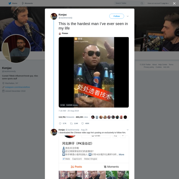 Kenjac on Twitter