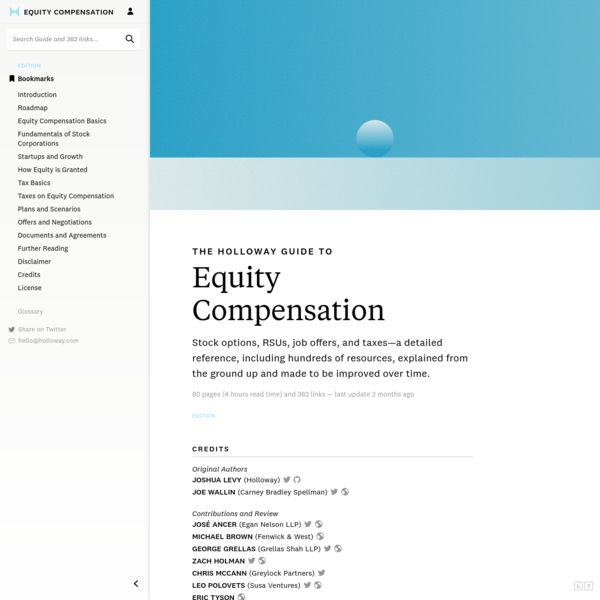 The Holloway Guide to Equity Compensation - Holloway
