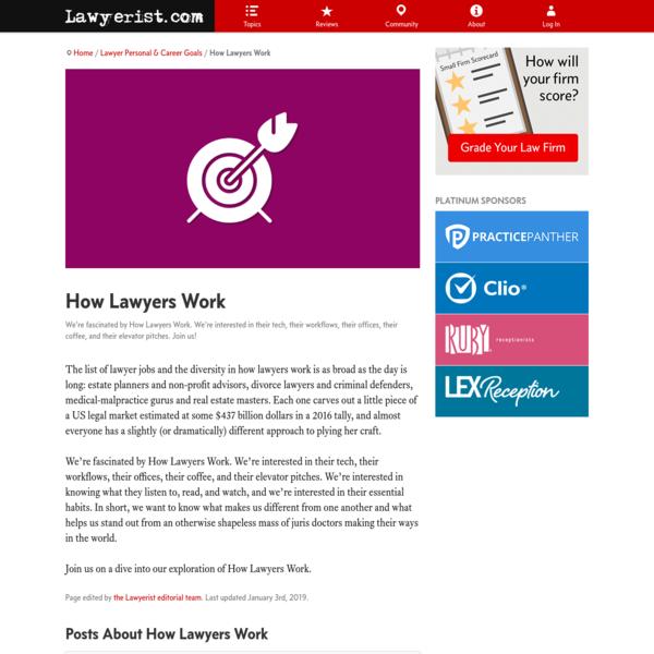 How Lawyers Work   Lawyerist