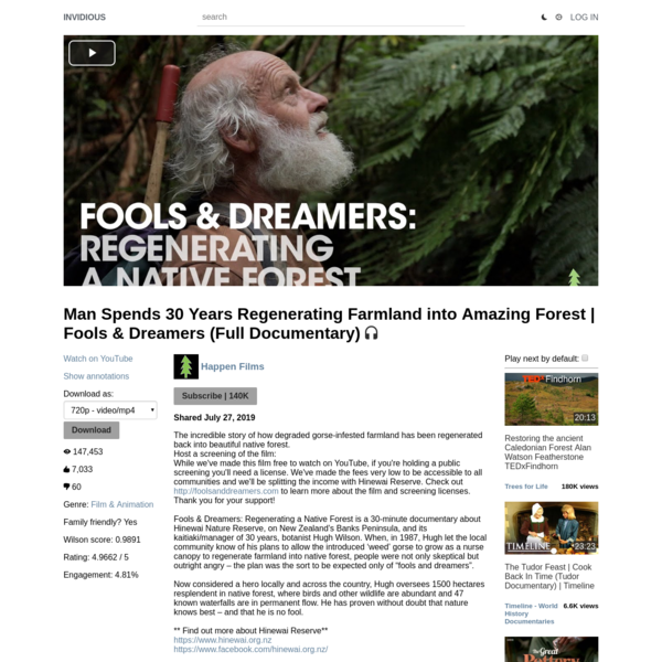 Man Spends 30 Years Regenerating Farmland into Amazing Forest | Fools & Dreamers (Full Documentary)
