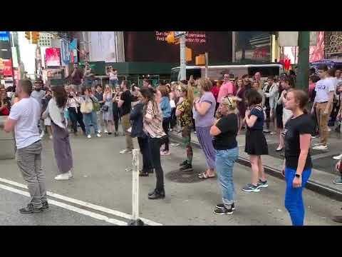 #SaveTheOA NYC Times Square Flash Mob (08-26-2019) | Save the OA | flashmob