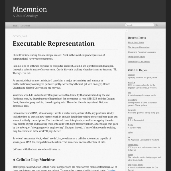 Executable Representation - Mnemnion