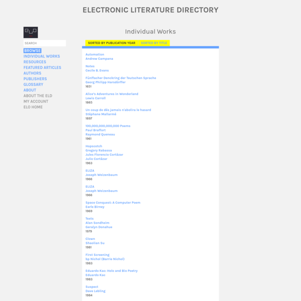 Electronic Literature Directory